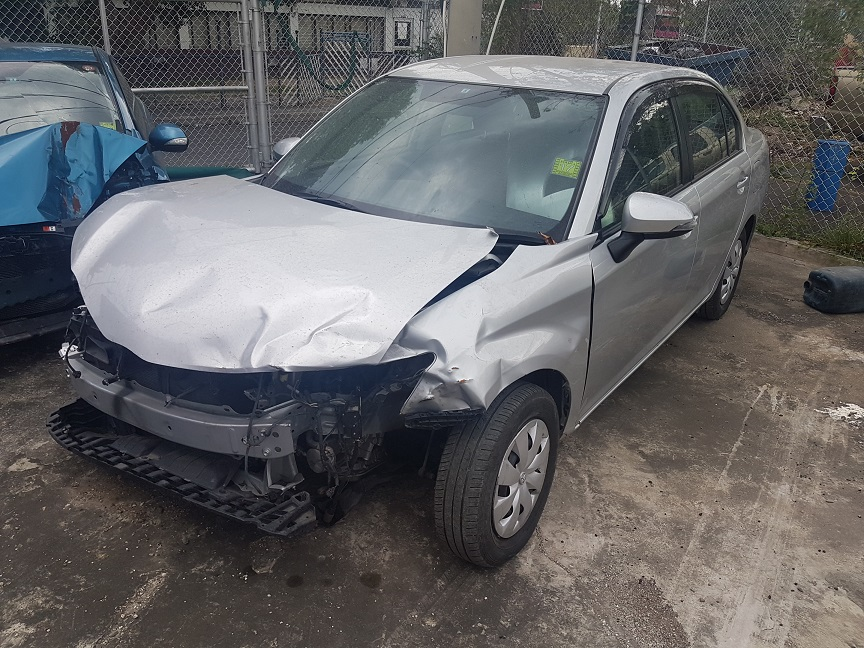 2014 Salvage Or Crashed Toyota Axio Sedan For Sale In Jamaica Make